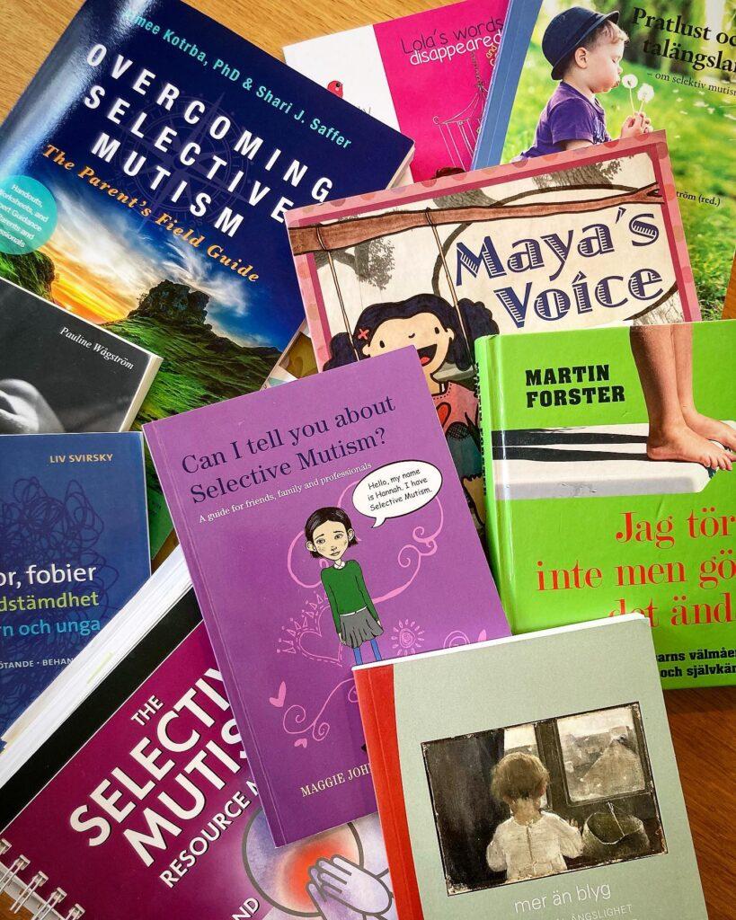 Böcker om selektiv mutism.