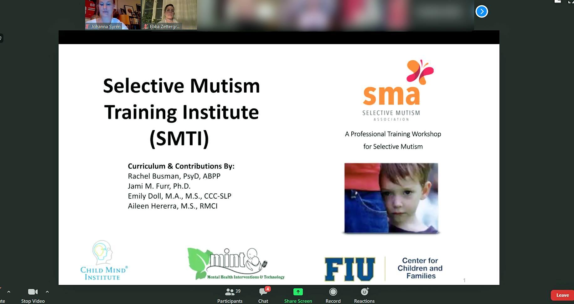 SMA digital kurs selektiv mutism.