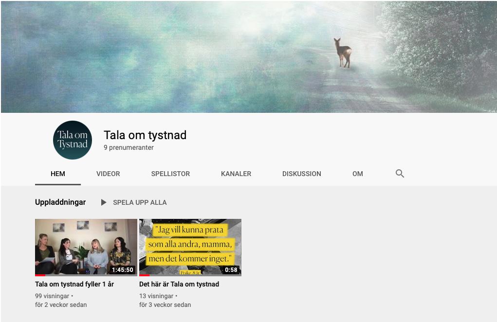 Tala om tystnad Youtube.